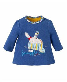 Mothercare Full Sleeves Top Bunny Patch - Blue
