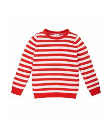 Mothercare Full Length Knitted Stripe Sweater - Red
