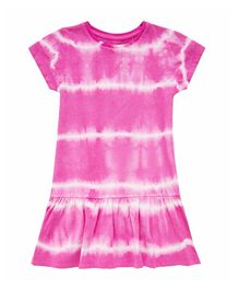 Mothercare Short Sleeves Frock Dip & Dye Style - Pink
