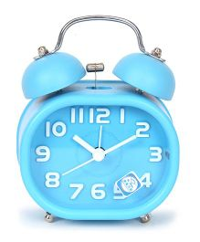 Twin Bell Analog Alarm Clock - Blue