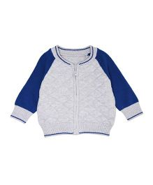 Mothercare Raglan Sleeves Quilted Cardigan - Grey