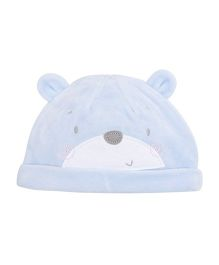Mothercare Bear Print Winter Cap - Blue