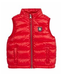 Mothercare Sleeveless Quilted Jacket - Red