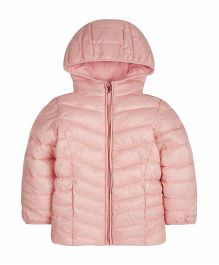 Mothercare Full Sleeves Padded Jacket With Hood - Pink