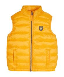 Mothercare Sleeveless Quilted Jacket - Yellow