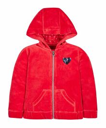Mothercare Full Sleeves Hooded Sweat Jacket - Red