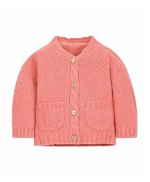 Mothercare Full Sleeves Cable Knit Sweater - Peach