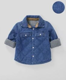 Mothercare Full Sleeves Quilted Denim Shirt - Blue