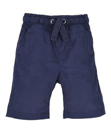 Mothercare Knee Length Shorts With Drawstring - Navy