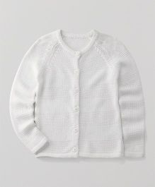 Mothercare Full Sleeves Knitted Cardigan - Off White