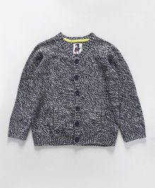 Mothercare Full Sleeves Knitted Cardigan - Grey & White