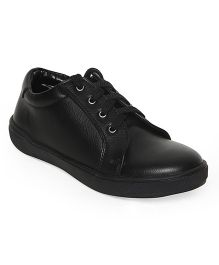 Bruno Manetti Smart Solid Faux Shoes - Black