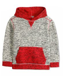 Cherry Crumble California Dual Shade Hoodie - Grey & Red
