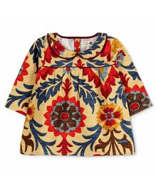 Cherry Crumble California Classic Printed Top - Multicolor