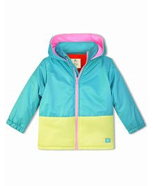 Cherry Crumble California Soft Fleece Lined Puffer Jacket - Multicolor
