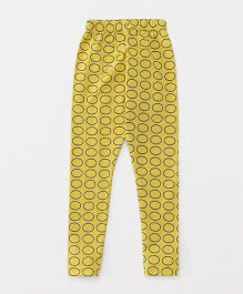 Fido Full Length Leggings Circle Print - Yellow