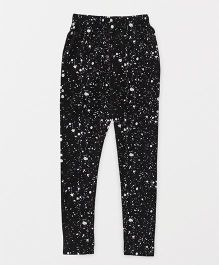 Fido Full Length Leggings Printed - Black