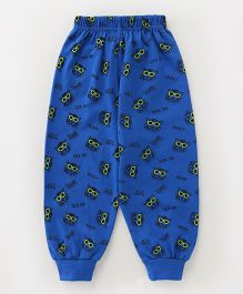 Fido Full Length Lounge Pant Tiger Print - Royal Blue