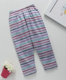Babyhug Full Length Stripe Lounge Pant - Grey