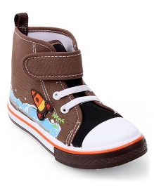 Cute Walk by Babyhug Casual Shoes Rocket Patch - Brown