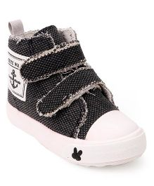 Cute Walk by Babyhug Canvas Shoes -  Black