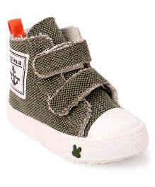 Cute Walk by Babyhug Canvas Shoes - Green