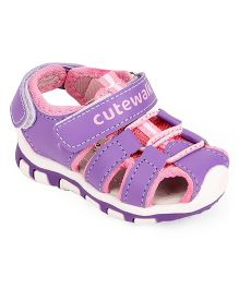 Cute Walk by Babyhug Sandals With Dual Velcro Closure - Purple