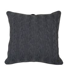 Pluchi Cable Twist Knit Oversized Cushion Cover - Antique Grey