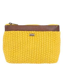 Pluchi Veronica Travel Cosmetics Pouch - Yellow