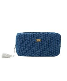 Pluchi Knitted Travel Or Cosmetics Purse - Estate Blue
