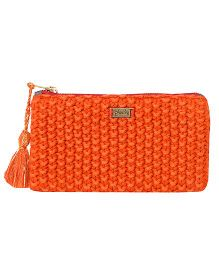 Pluchi Knitted Coin Purse - Rust Red