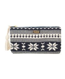 Pluchi Nordic Knitted Coin Purse - Dark Navy & Ivory