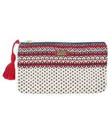 Pluchi Charlotte Knitted Coin Purse - Dark Navy & Red
