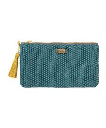Pluchi Mila Knitted Coin Purse - Peacock Green