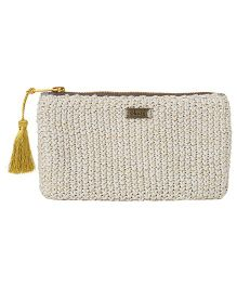Pluchi Sienna Knitted Coin Purse - Grey