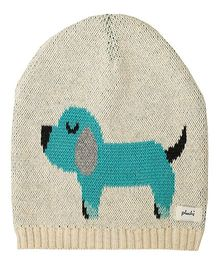 Pluchi Scottie Dog Knitted Baby Cap - Turquoise