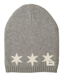 Pluchi Star Knitted Baby Cap - Light Grey