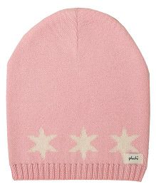 Pluchi Star Knitted Baby Cap - Light Pink