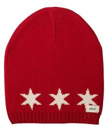 Pluchi Star Knitted Baby Cap - Red