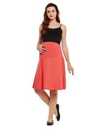 Oxolloxo Maternity Skirt - Red