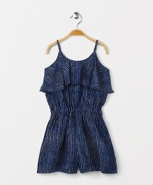 Kids Lane Stripes Jumpsuit - Indigo