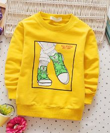 Funtoosh Kidswear Fall Winter Print Tee - Yellow