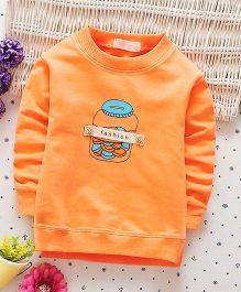 Funtoosh Kidswear Fashion Print Tee - Orange