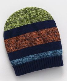 Mothercare Cap Slouch Beanie Stripes Print - Multi Colour