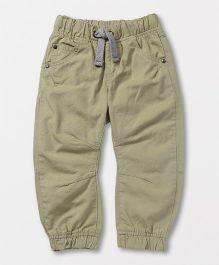 Mothercare Elasticated Solid Color Trouser - Beige