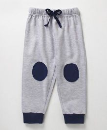 Babyhug Lounge Pant With Knee Patch - Light Grey