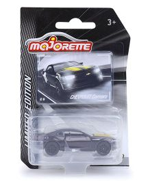 Majorette Limited Edition 3 Die Cast Chevrolet Toy Car - Black