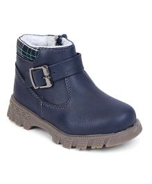 Cute Walk By Babyhug Slip On Boots - Blue