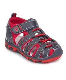 Cute Walk by Babyhug Sandals - Black Orange