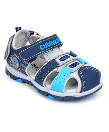 Cute Walk by Babyhug Sandals - Sky & Navy Blue
